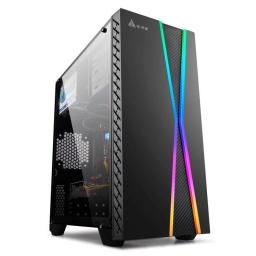 GABINETE GAMER CN22 RGB ATX SIN VENTILADORES