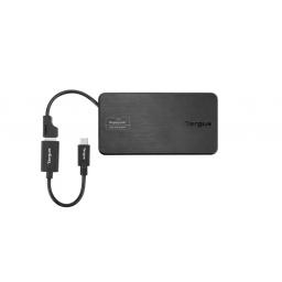 DOCK BASE DE VIAJE TARGUS DSU100US USB 3.0 USB-C HDMI RJ45 VGA