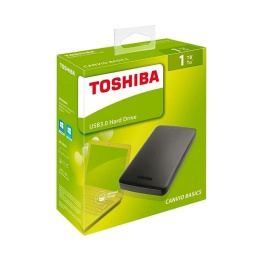 DISCO DURO TOSHIBA CANVIO 1TB 2.5 EXTERNO USB 3.0 PARA PC Y NOTEBOOK