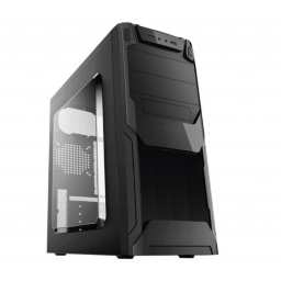GABINETE GAMER SHOT GAMING 3143 ATX ACRILICO HASTA 3 FANS