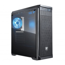 GABINETE GAMER COUGAR MX330 S ACRILICO 1 FAN 120MM LED AZUL