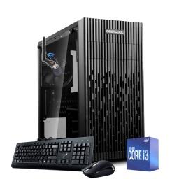 Equipo PC Intel Core i3 10100 10ma Gen 8Gb Ddr4 2666 Ssd 240Gb Fuente 500w Gabinete Atx Combo Negro