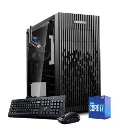 Equipo PC Intel Core i7 10700 10ma Gen 8Gb Ddr4 2666 Ssd 240Gb Fuente 500w Gabinete Atx Combo Negro