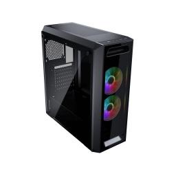 GABINETE COUGAR MX350 RGB VIDRIO TEMPLADO EN EL LATERAL