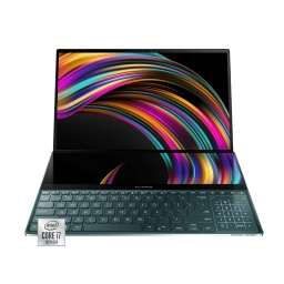 Notebook Asus Zenbook Duo Core I7 10510U 4.9Ghz 8Gb Nvme 512Gb Pantalla 14 IPS Fhd Tactil Wifi6 Teclado Iluminado Win10
