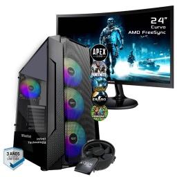 PC Gamer AMD Ryzen 5 3600 A520M 16Gb 3000Mhz Ssd 480Gb Gtx1660 6GB Gddr6 Dp HDMI Wifi Win10