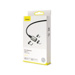 Cable Baseus A01 Usb Micro Lightening Usb-C 2.4A 3 En 1
