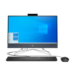 All In One HP 22 Ips Intel Dual Core G5900 3.2Ghz 4Gb Ram Ddr4 Ssd 256Gb Dvd-Rw Webcam Wifi Windows 10 Teclado y Mouse