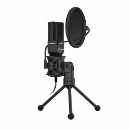 Microfono Marvo Scorpion Gamer MIC03 Negro Para Streaming