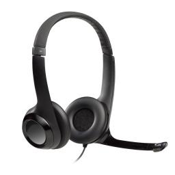 Auriculares Logitech H390 Usb + Microfono Suspension De Ruido Para Pc