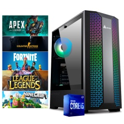 PC Gamer Intel Core i5 10400f Ram 8Gb Ddr4 2666Mhz Ssd 240G Gtx 1050 Ti 4Gb Gddr5 Hdmi Wifi W10 Juegos Inatalados