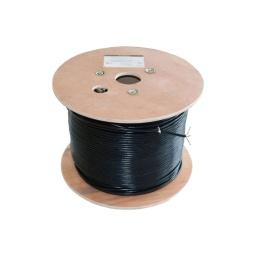 Bobina Cable Utp 305m Prowire Cat5 100% Cobre Bajo Pvc Color Nergro Exterior