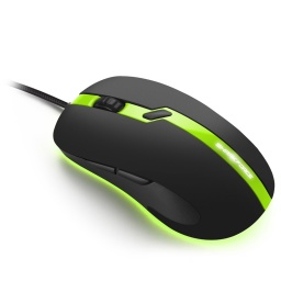MOUSE GAMER SHARKOON SHARK FORCE PRO 3200DPI VERDE