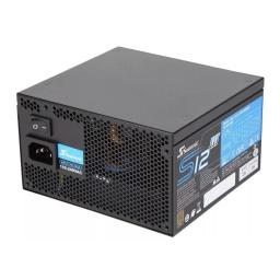 FUENTE DE PODER SEASONIC 500W 80 PLUS BRONZE S12 SSR-500GB3