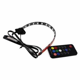TIRA LED RAIDMAX LD301 GLUHEN RGB C/CONTROL 30CM 18 LEDS