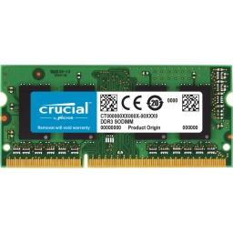 MEMORIA RAM SODIMM CRUCIAL 4GB DDR3 1600MHZ