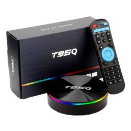 SMART TV BOX T95Q QUAD CORE 4GB 64GB 4K ANDROID 8.1 CONTROL REMOTO HDMI