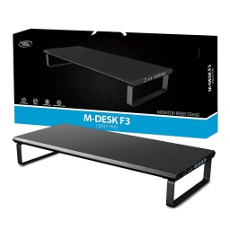 BASE SOPORTE MONITOR DEEPCOOL M-DESK F3 V3.0 HUB USB 4 PUERTOS