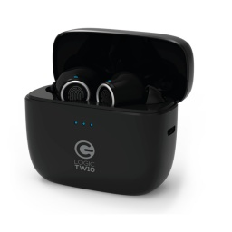 AURICULARES LOGIC TW10 WIRELESS BLACK CON ESTUCHE CARGADOR
